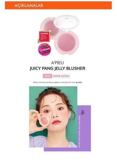 Missha Meyve Tonlarında Doğal Görünümlü Jel Allık Apıeu Juicy-Pang Jelly Blusher (Vl01) Renksiz